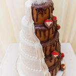 half vanilla half chocolate reveal cake
