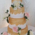 gold sugar wedding cake