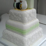 floral seaside theme wedding cake