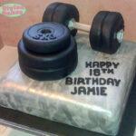 weight training cake